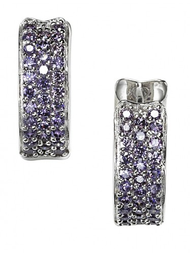 caï Creolen Purple gefasst in Silber rhodiniert C1366E/90/C6