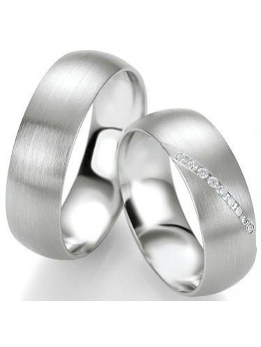 Saint Maurice 49/91109 Silberringe, Damenring mit 9 Diamanten
