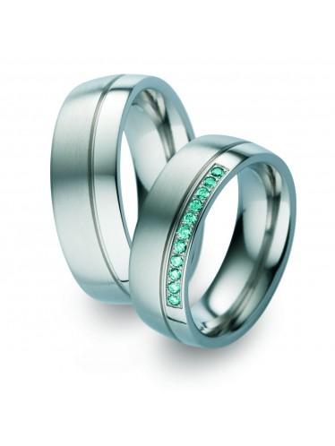 blaue Diamanten Titanringe