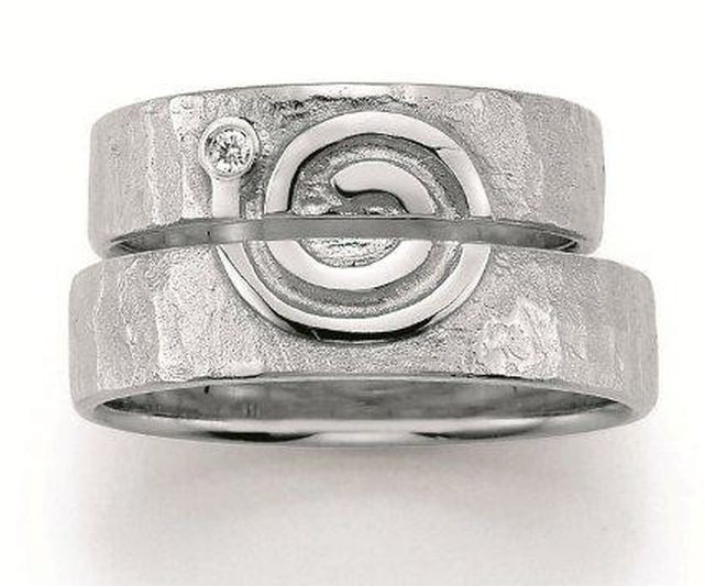 Freundschaftsringe billig  Freundschaftsringe in Sterlingsilber - Zeichen der Liebe - Spirale