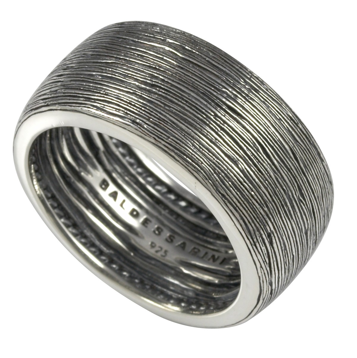 Herrenring  Herren-Ring/Siegel-Ring mit geschwärztem Muster von Baldessarini ...