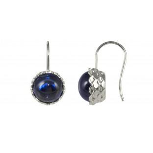 caï Ohrhänger mit rundem blauen Spinell C1304E/90/31
