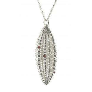 cai Halskette / Collier mit Silberkugeln und braunen Zirkonia C1395N/90/H4/90