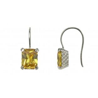caï Ohrhänger mit gelbem Zirkonia gefasst in Silber C1420E/90/69