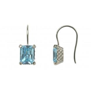 caï Ohrhänger mit hellblauem Zirkonia gefasst in Silber C1420E/90/88