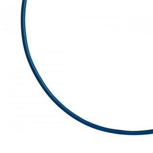 Giorgio Martello Ledercollier/Lederhalsband dunkelblau 42 cm mit Silber 925 Endkappen Karabinerverschluß rhodiniert 819539420