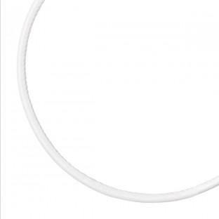 Giorgio Martello Ledercollier/Lederhalsband weiß 45 cm mit Silber 925 Endkappen Karabinerverschluß rhodiniert 819559450