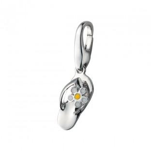 Giorgio Martello Flipflop mit weiß gelber Blume Charm 818729