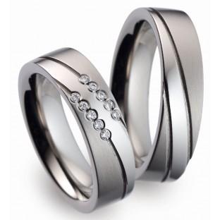 Trauringe Titanfactory  Damenring mit 10 Diamanten