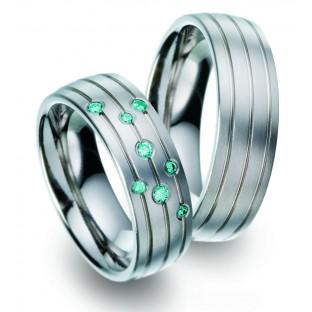 blauer Diamant Titanringe