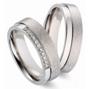 Trauinge Titanfactory Damenring mit 11 Diamanten