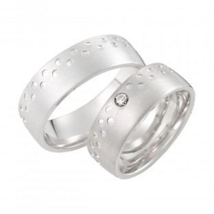Silberringe mit Punktemuster von Corini 4804