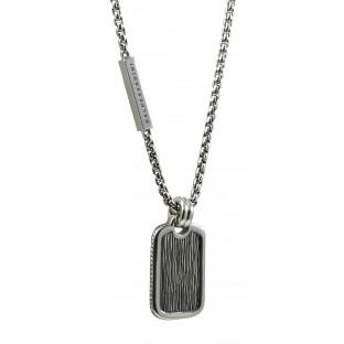 Baldessarini Herren-Halskette strukturierte Platte mit Rauten Y2070N/90/00/55