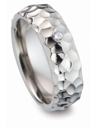 Titanfactory Ring mit weißem Brilliant