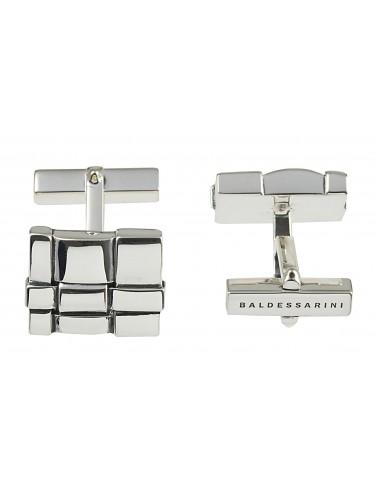 Baldessarini Manschettenknöpfe Y1044C/90/00 rhodiniertes, poliertes Silber 925 mit markanter Struktur
