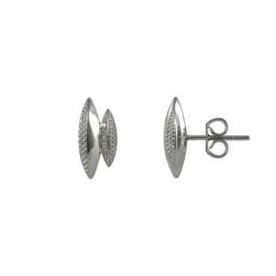 caï Ohrstecker Formen mit Zirkonia in Silber C1431E/90/03