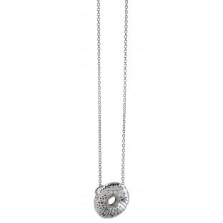 caï Halskette / Collier durchbrochener geschuppter Kreis mit Zirkonia C1445N/90/03/45