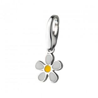 Giorgio Martello Blume mit gelben und weißen Lack Charm 818879