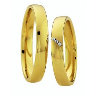 Trauringe Gelbgold Damenring mit 3 Diamanten von Saint Maurice 49/87024/0
