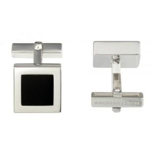 Baldessarini Manschettenknöpfe Y1012C/90/13 rhodiniertes Sterling-Silber 925 mit schwarzem Onyx