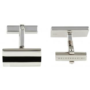 Baldessarini Manschettenknöpfe Y1024C/90/13 Silber 925 schwarzer Onyxeinsatz mittig