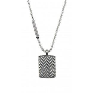 Baldessarini Herren-Halskette strukturierte Platte Y1040N/90/00/55