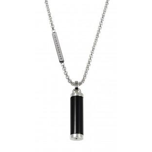 Baldessarini Herren-Halskette Silber mit Onyx-Zylinder Y1041N/90/13/60