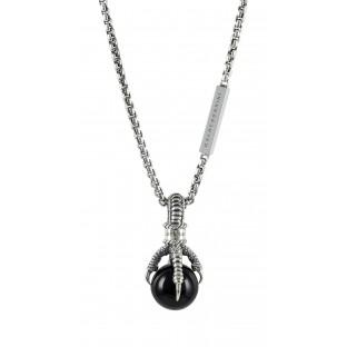 Baldessarini Herren-Halskette Silber mit Onyx- in Krallen Y2043N/90/13/55